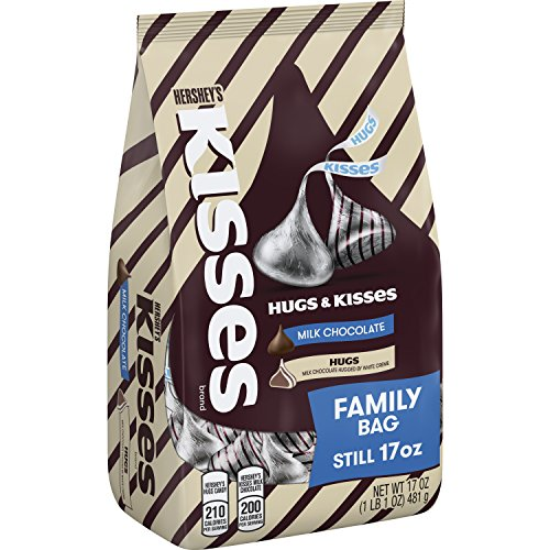 Hersheys Hugs Kisses Milk Chocolate Candy, 17 Oz.