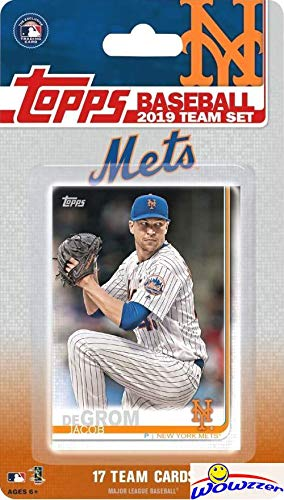 New York Mets 2019 Topps Baseball EXCLUSIVE Special Limited Edition 17 Card Complete Team Set with Jacob deGrom, Brandon Nimmo & Many More Stars & Rookies! Shipped in Bubble Mailer! WOWZZER!