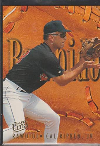 1996 Best Autographs - 1996 Ultra Cal Ripken Jr. Orioles Rawhide Insert Baseball Card #9