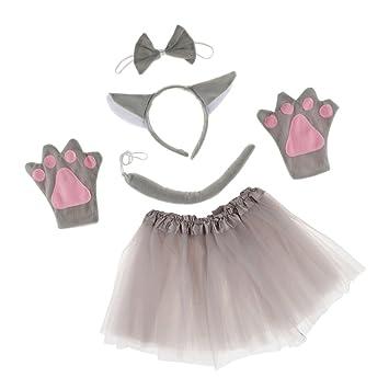 5 Pcs Set de Traje para Chicas Mujeres Estilo Animal para Cumpleaños de Niños Disfraz Animal Día de Niños