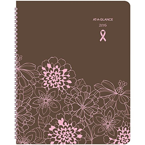 AT-A-GLANCE Monthly Planner 2016, 8.5 x 11 Inches, Sorbet, Brown/Pink (794900)