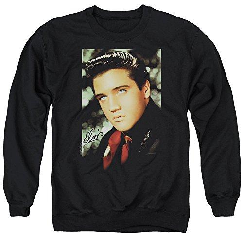 Elvis Presley - Red Scarf Smile - Adult Crewneck Sweatshirt - - Sweatshirt Elvis