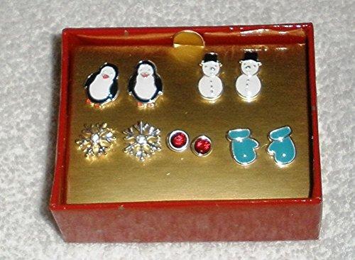 Avon Winter Whimsy 5 Pair Earring Set