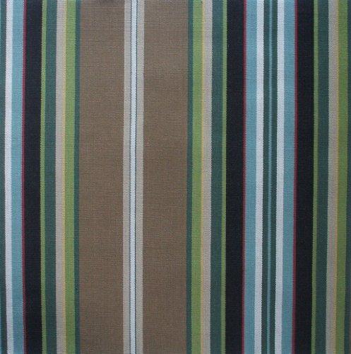 Carlton Stripe Walnut Brown Multi 84 Inch Long Cotton Sho...