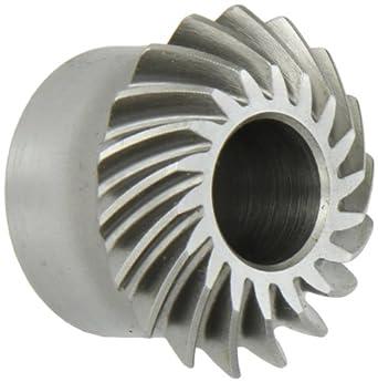Boston Gear LSA-L Series Spiral Miter Gear, 1:1 Ratio, 20 Degree Pressure Angle, 35 Degree Spiral Angle, Plain Bore, Steel, Left Hand