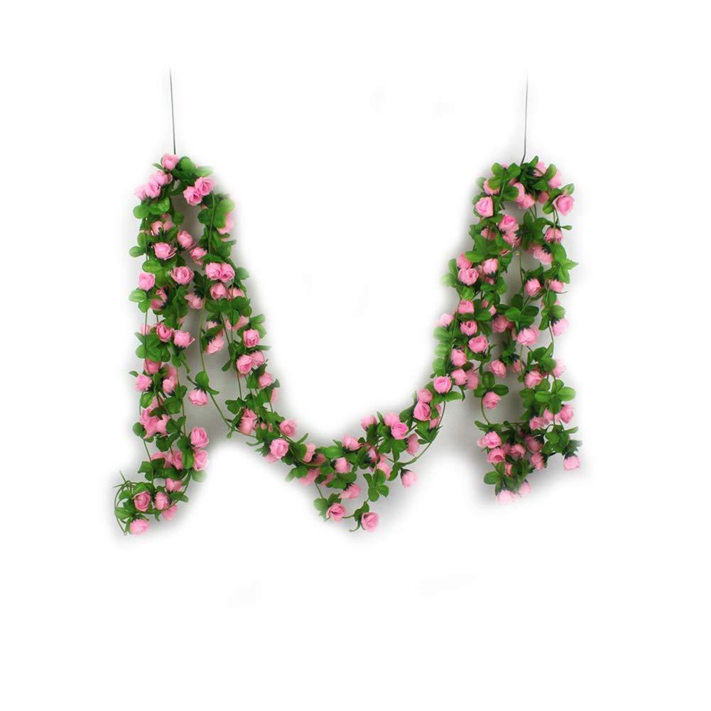 Colgando decorativo Uso Rose de seda multi vid de la flor de seda ...
