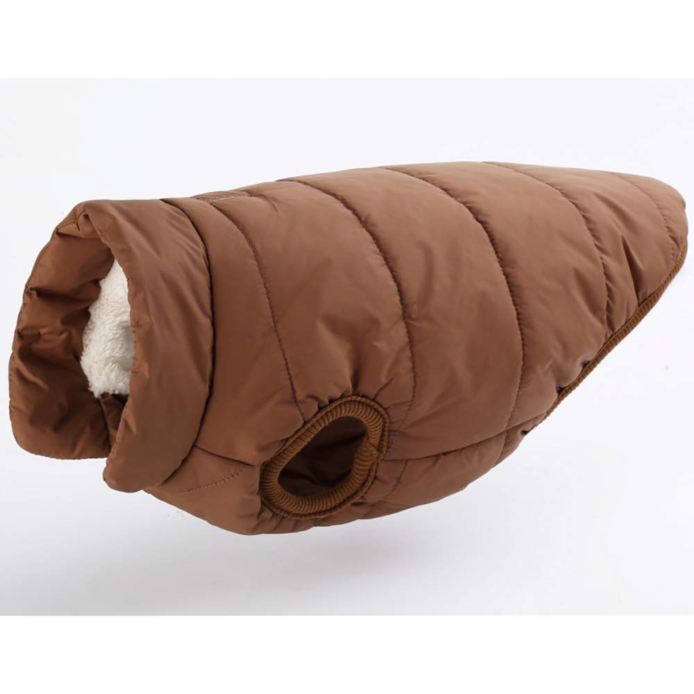 Coffee 2XL Coffee 2XL Dog winter clothes for medium and small, large dog vest warm jacket windproof and waterproof