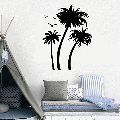 Kuari Vinyl Wall Statement Family DIY Decor Art Stickers Home Decor Wall Art Palmiers Et Oiseaux for Living Room Bedroom