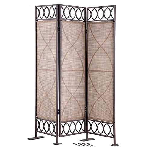 DermaPAD 3 Panel Folding Privacy Screen - Patio Privacy Screen (Folding Screen Outdoor)