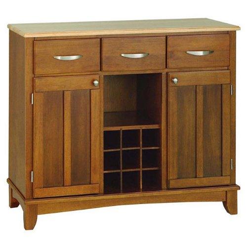 1 Large Wood Server Sideboard (Light Oak Buffet)