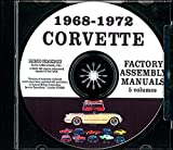 THE ABSOLUTE BEST 1968 1969 1970 1971 1972 CORVETTE FACTORY ASSEMBLY INSTRUCTION MANUAL CD - ALL MODELS INCLUDING; C-3, Sting Ray, Stingray, Coupe, Hardtop, Convertible - VETTE