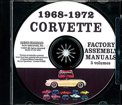 THE ABSOLUTE BEST 1968 1969 1970 1971 1972 CORVETTE FACTORY ASSEMBLY INSTRUCTION MANUAL CD - ALL MODELS INCLUDING; C-3, Sting Ray, Stingray, Coupe, Hardtop, Convertible - - 1968 Chevrolet Corvette Stingray