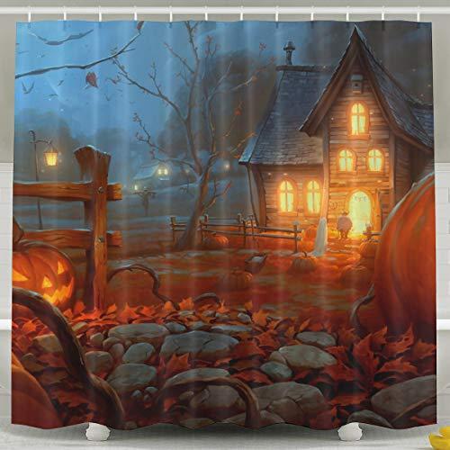 Silinana Happy Halloween Pattern 6072 Inch Bathroom Shower