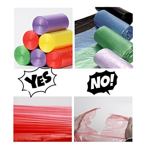 Small Trash Bags, Urcolor 5 Gallon Garbage Bags For Office, Home Waste Bin, 150 Counts 5 Color
