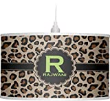 RNK Shops Granite Leopard Drum Pendant Lamp Polyester (Personalized)