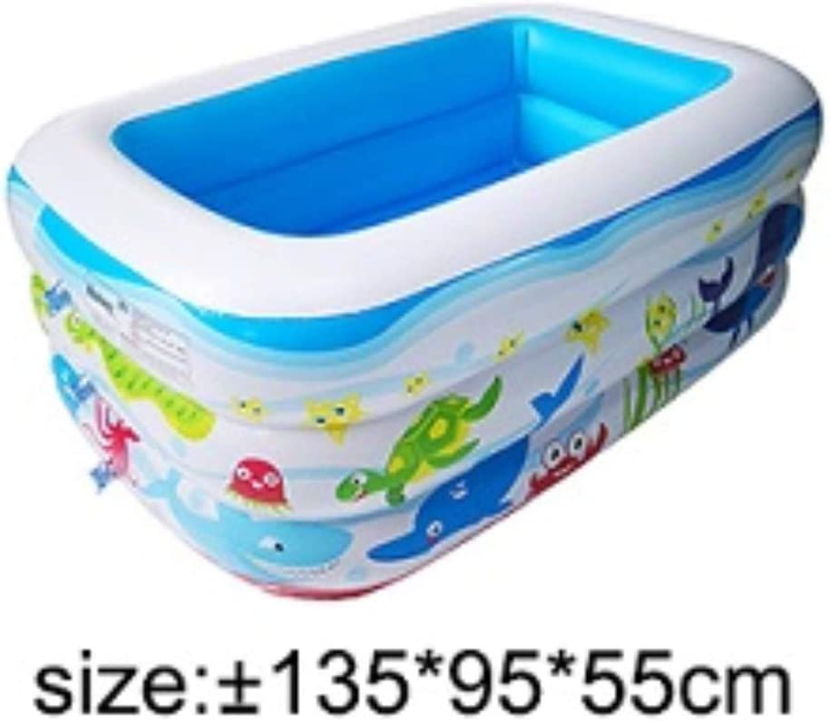 Empty Piscina Inflable para niños vacía de 1 unid Piscina para niños de Uso doméstico para niños Piscina Cuadrada Inflable de Gran tamaño para bebé, 135x95x55cm: Amazon.es: Hogar
