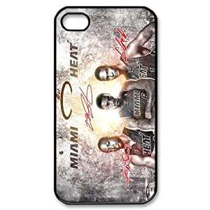 Luckhappy NBA Miami Heat 3 big HD image Black Plastic case - fits iphone 4 4s cover