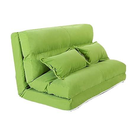 Amazon.com: Sofá Lazy YXX - Sofá cama grande plegable con 2 ...