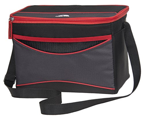 Igloo Collapse & Cool 12 Tech Basic, Black/Red, 12 Cans - Small Soft Sided Cooler