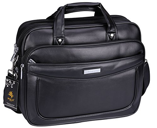 VIDENG POLO Extended 15.6 inches Leather Briefcase Laptop Bags Business Messager Bag Mens - Models Male Polo