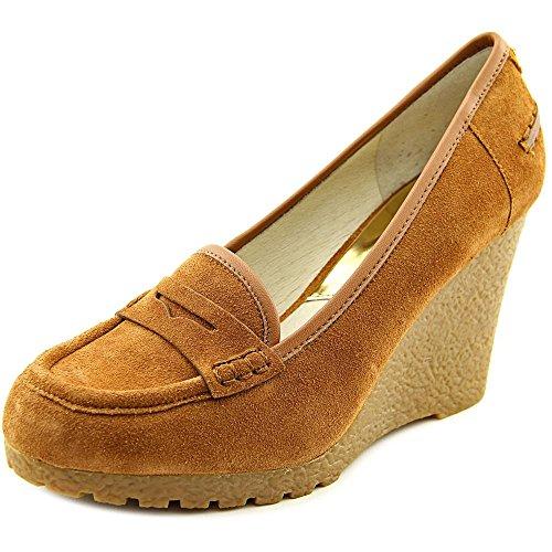 Michael Michael Kors Rory Loafer Women US 9.5 Brown Wedge Heel