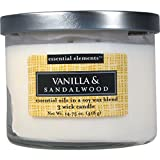 Candle Lite 1542-344 Vanilla and Sandalwood
