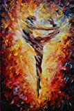 100% Hand Painted Oil Paintings Decor Abstract Modern Painting Dancer Home Wall Decoration (20X30 Inch, Wall Arts 4)