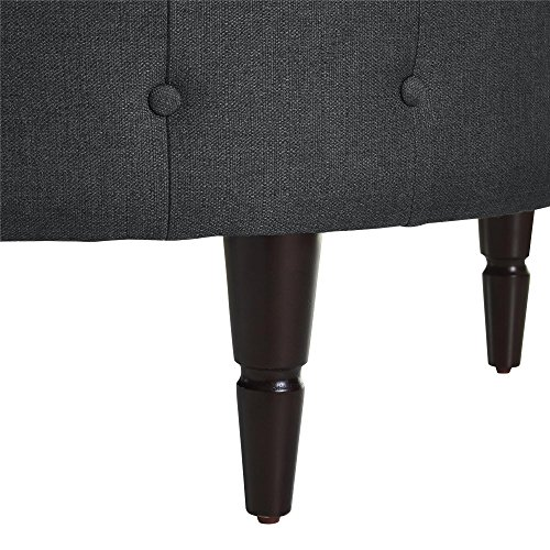 Dorel Living DL6993-CH Patty Round Ottoman, Charcoal by Dorel Living (Image #4)