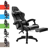 Advwin Gaming Chair Racing Office Chair, Ergonomic Computer Video Recliner Chair, Backrest and Height Adjustable…