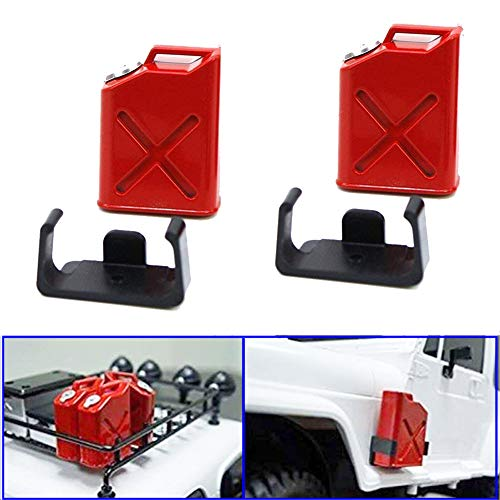 ShareGoo 1/10 Scale RC Rock Crawler Accessory Plastic Mini Fuel Tank For 1/10 Axial Wraith SCX10 EXO AX10 Truck Accessory ()