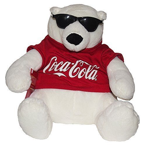 Coca Cola Coke Bear Collectible Plush With Sunglasses