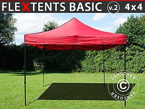 Dancover Carpa Plegable Carpa Rapida FleXtents Basic v.2, 4x4m Rojo: Amazon.es: Jardín
