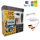 TopYart VHS to Digital Converter -[Upgrade] USB 2.0 Video Audio Capture Recorder Adapter Card V8/Vi8 VHS to DVD Converter TV DVR VCR CCTV Camcorder to PC for Mac &Windows 10/8