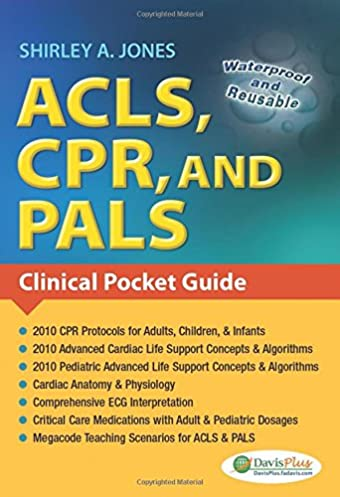 acls cpr and pals clinical pocket guide 9780803623149 medicine rh amazon com pals study guide 2017 pals study guide 2015