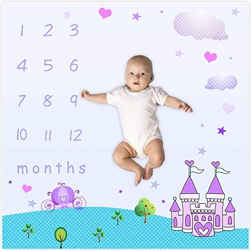 - EARVO Baby Monthly Milestone Blanket|40