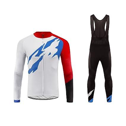 10ac916e6b00 Uglyfrog Ciclismo Abbigliamento Uomo Termico Vello Inverno/Autumn da Bici  Manica Lunga e Pantaloni Completo Confortevole Tessuto Spesso ZRMX01F:  Amazon.it: ...