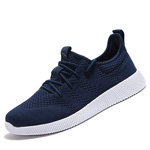 Mens Running Trainers Breathable Gym Walking Shoes Lightweight Athletic Sneakers Size 5UK-13UK Blue-2 TUM6f1G8