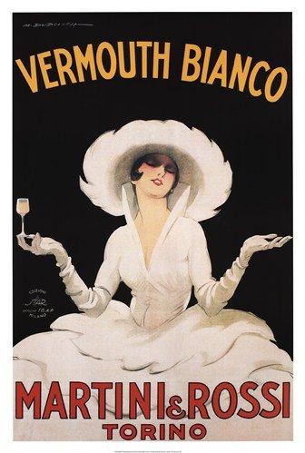 Culturenik Martini & Rossi Vermouth Bianco Poster 24x36 inch