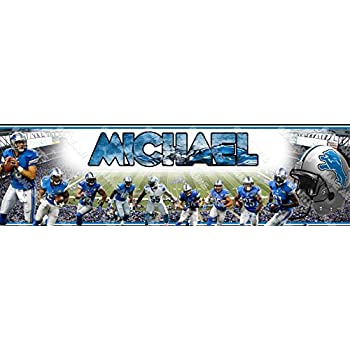 Personalized//Customized Detroit Lions Name Poster Wall Art Decoration Banner