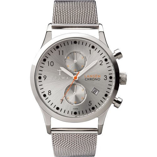 Triwa Stainless Steel Lansen Chrono Wrist Watch (Stirling Silver)