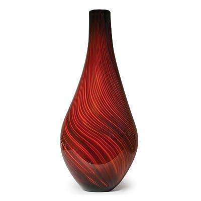 Handmade Glass Red Roma Vase - 20