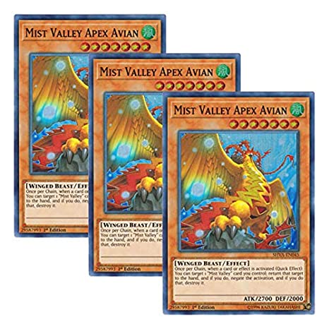 Mist Valley Apex AvianSHVA-EN045Super Rare1st EditionYuGiOh