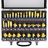 KOWOOD Router Bits Sets of 35B Pieces 1/2 Inch T