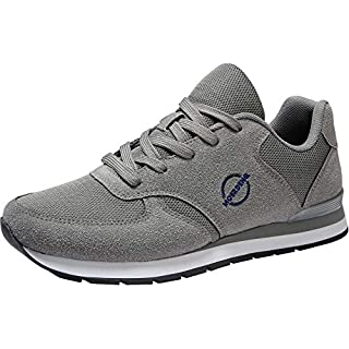 MOERDENG Walking Shoes for Mens Sports Fashion Non Slip Sneakers Outdoor Running Fitness Jogging Athletic Road Casual Footwear,Dark Grey,Size:US 9.5/EU 43