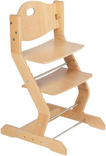 TISSI Chaise haute bébé inclus brustbügel, ceinture et table hêtre naturel
