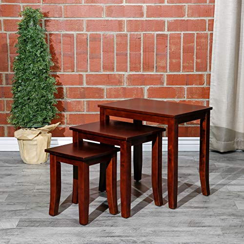 - Avon 3-Piece Nesting Tables DTY Indoor Living Furniture Collection - Cherry
