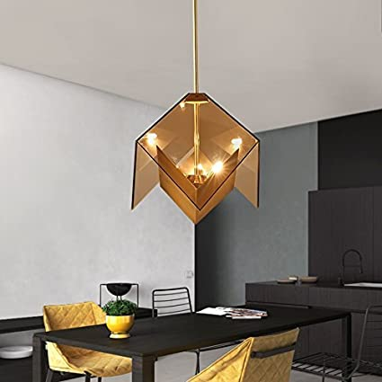 Led Postmodern Acrylic Chandelier Restaurant Light Living Room Bar Table Dining Table Iron Three Small Chandelier Buy Now Lights & Lighting Ceiling Lights