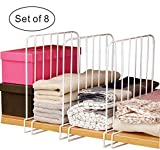 Cq acrylic Set of 8 Vertical Closet Wood Shelf