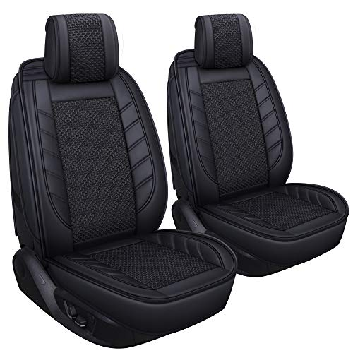 LUCKYMAN CLUB 2 PC Front Car Seat Covers Breathable Universal for Sedan SUV Truck Fit for Most Acura Mazda Hyundai Toyota Nissan Ford Chevy Kia Honda Buick (Kia Truck)