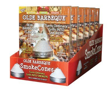 OLDE BARBEQUE LONG LASTING SMOKE CONES - REAL BARBEQUE FLAVOR - VARIETY PACK by OLDE BARBEQUE